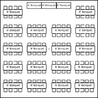 Tent Layouts & Seating Capacity Chart « AA Party and Tent Rentals ...