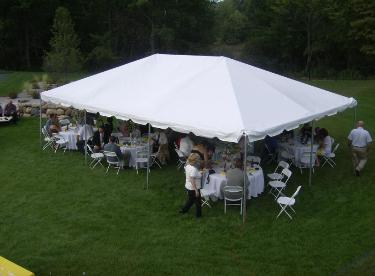 Tent Layouts on table chairs rental