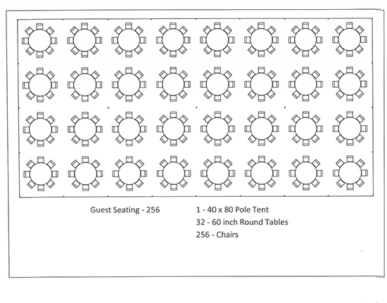 Tent Layouts Amp Seating Capacity Chart Aa Party And Tent