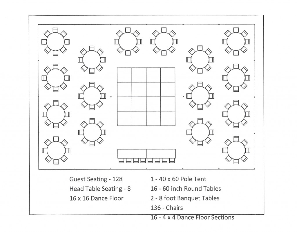 Tent Layouts Seating Capacity Chart Aa Party And Tent Rentals